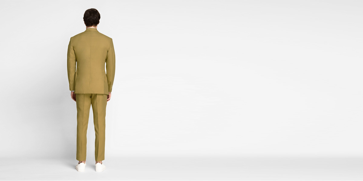 British Khaki Cotton Suit- view-2