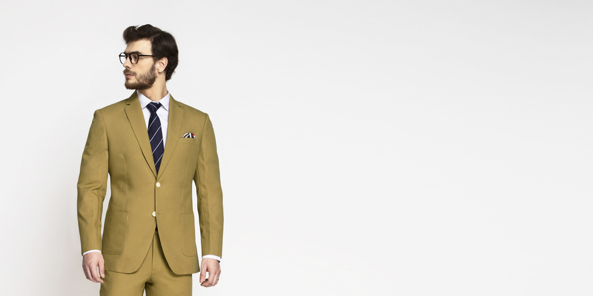 British Khaki Cotton Suit- view-3