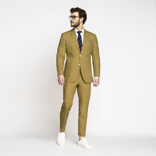 British Khaki Cotton Suit-mbview-1