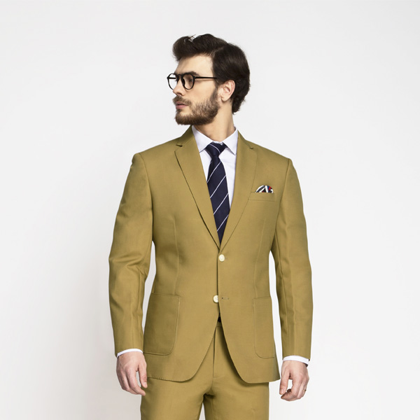 British Khaki Cotton Suit-mbview-3