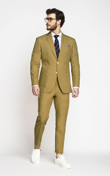 British Khaki Cotton Suit