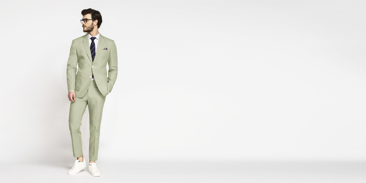 Sage Green Cotton Suit- view-1