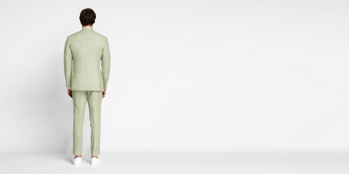 Sage Green Cotton Suit- view-2