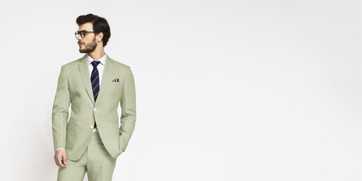 Sage Green Cotton Suit- view-3