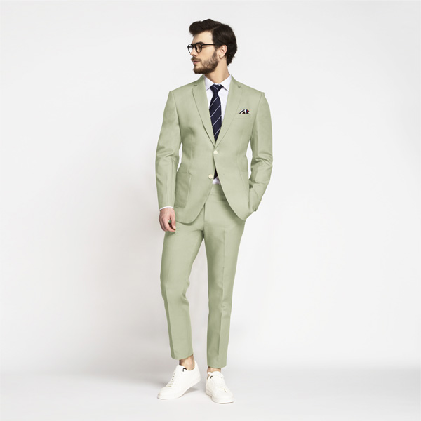 Sage Green Cotton Suit-mbview-1