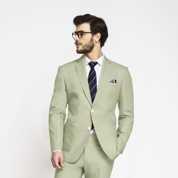 Sage Green Cotton Suit-mbview-3