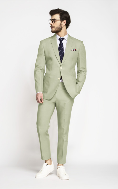 Sage Green Cotton Suit