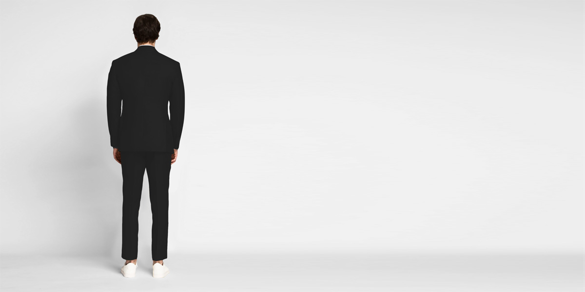 Boston Black Cotton Suit- view-2