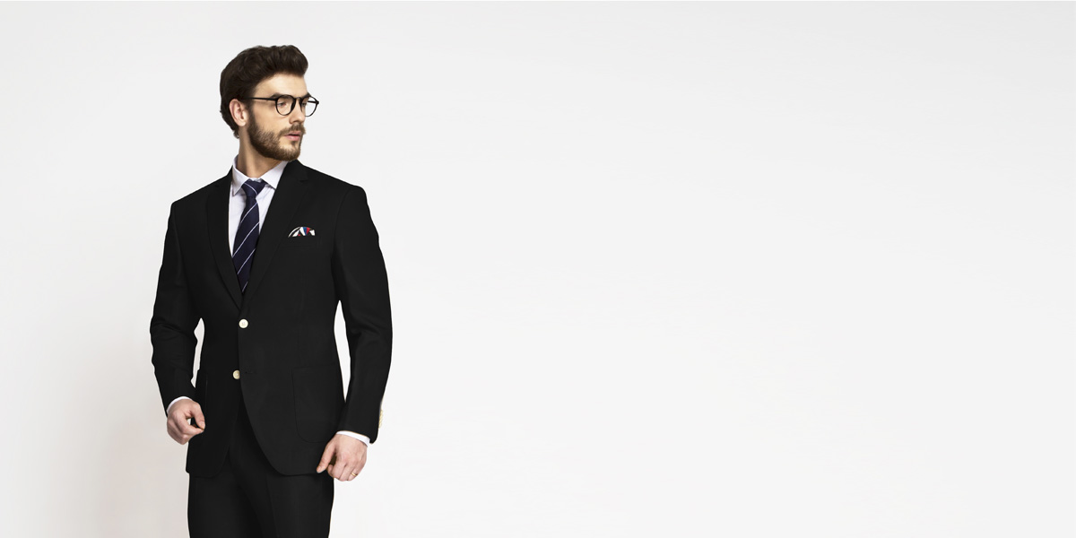 Boston Black Cotton Suit- view-3