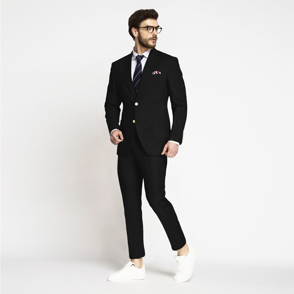 Boston Black Cotton Suit-mbview-1