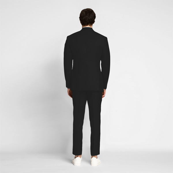 Boston Black Cotton Suit-mbview-2