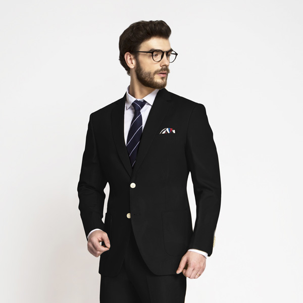 Boston Black Cotton Suit-mbview-3