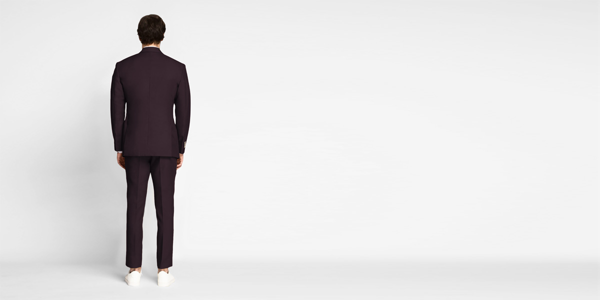Havana Burgundy Cotton Suit- view-2