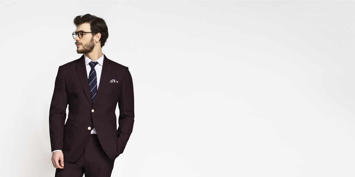 Havana Burgundy Cotton Suit- view-3