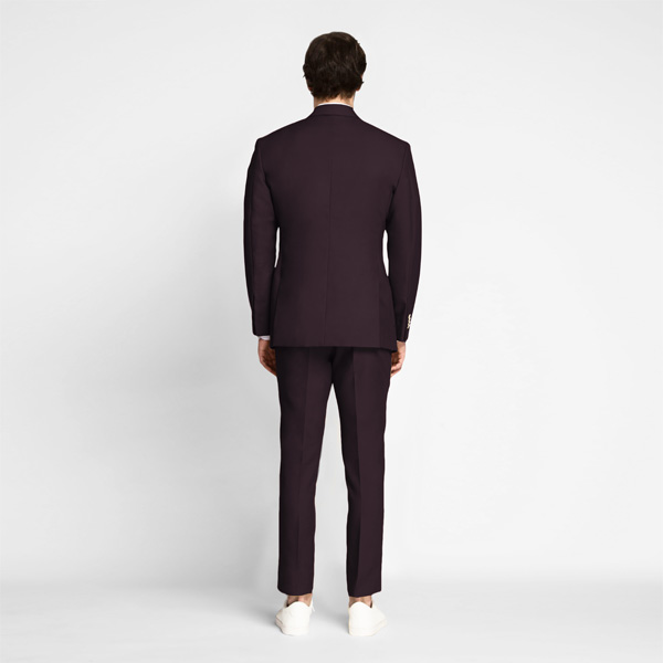 Havana Burgundy Cotton Suit-mbview-2
