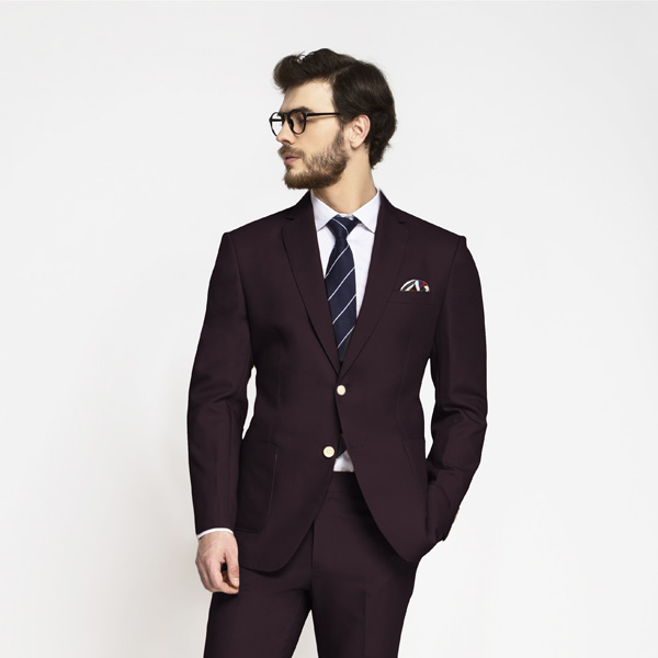 Havana Burgundy Cotton Suit-mbview-3