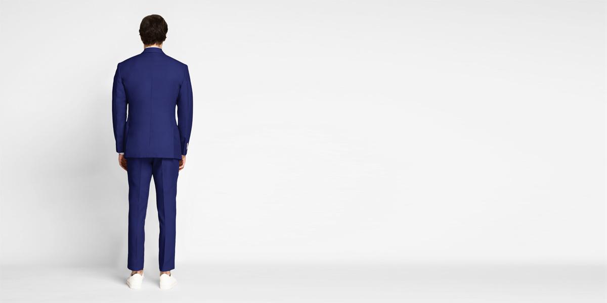 Royal Blue Cotton Suit- view-2
