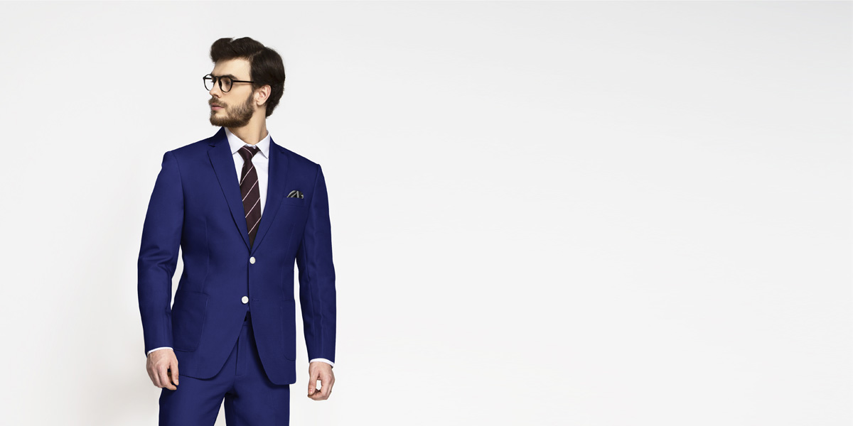 Royal Blue Cotton Suit- view-3