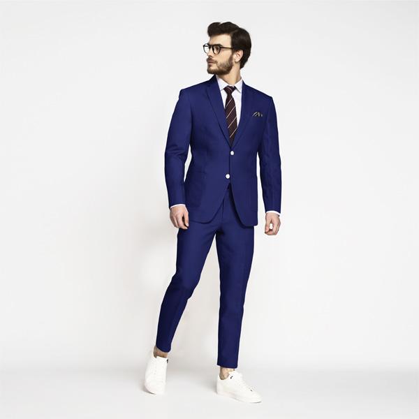 Royal Blue Cotton Suit-mbview-1