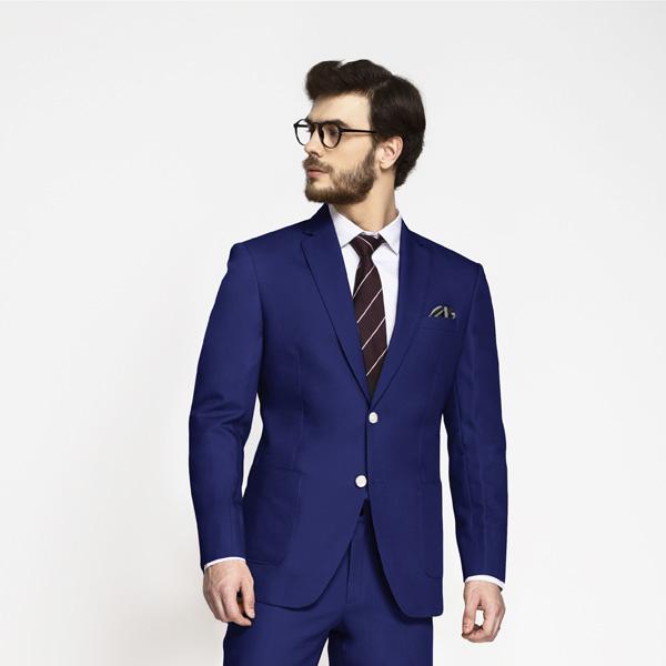 Royal Blue Cotton Suit-mbview-3