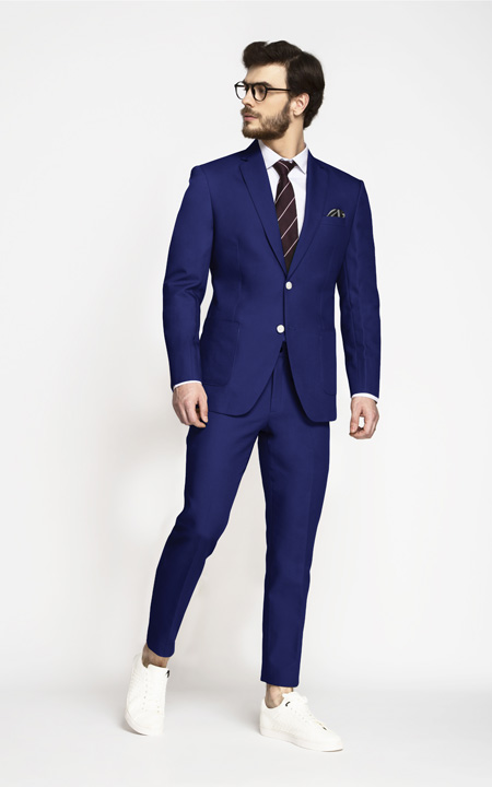 Royal Blue Cotton Suit