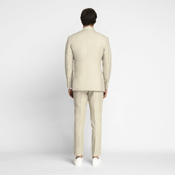 Khaki Cream Cotton Suit-mbview-2