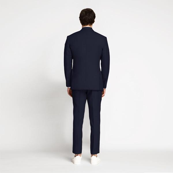 Debonair Navy Blue Cotton Suit-mbview-2