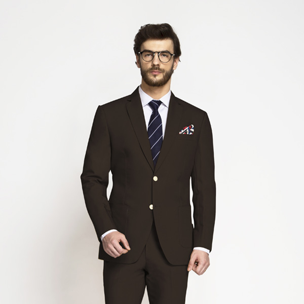 Army Brown Khaki Cotton Suit-mbview-3