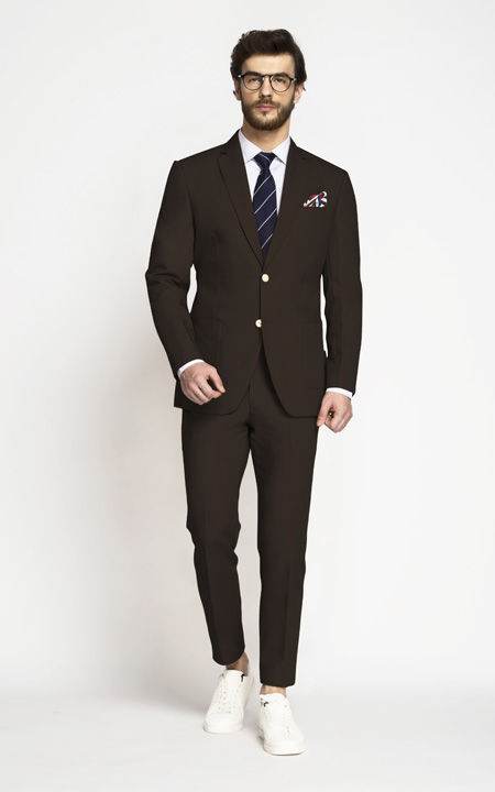 Army Brown Khaki Cotton Suit