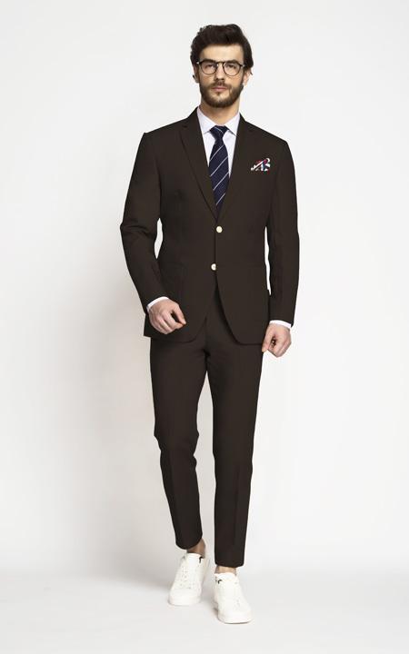 Army Brown Khaki Cotton Suit