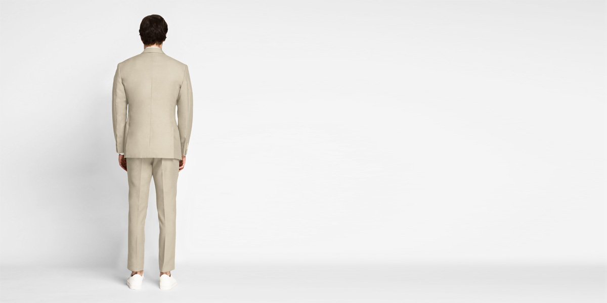 Dusted Brown Khaki Cotton Suit- view-2