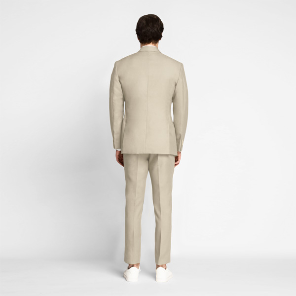 Dusted Brown Khaki Cotton Suit-mbview-2