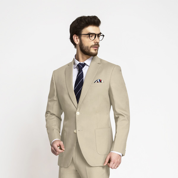 Dusted Brown Khaki Cotton Suit-mbview-3