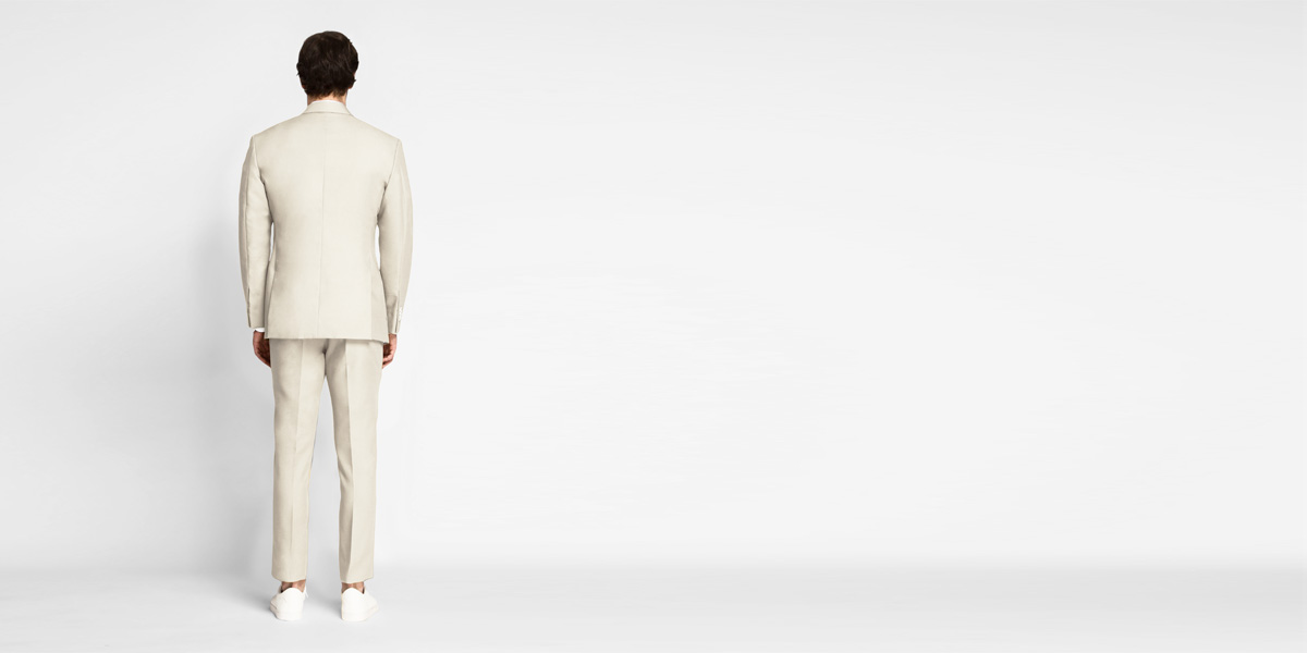 Beige Derby Cotton Suit- view-2