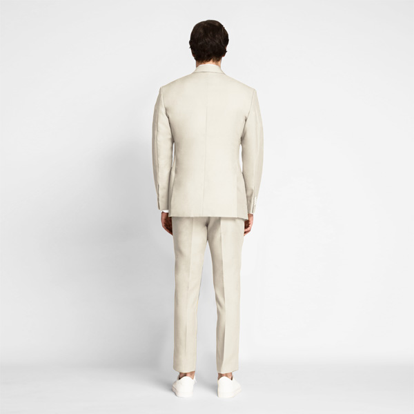 Beige Derby Cotton Suit-mbview-2