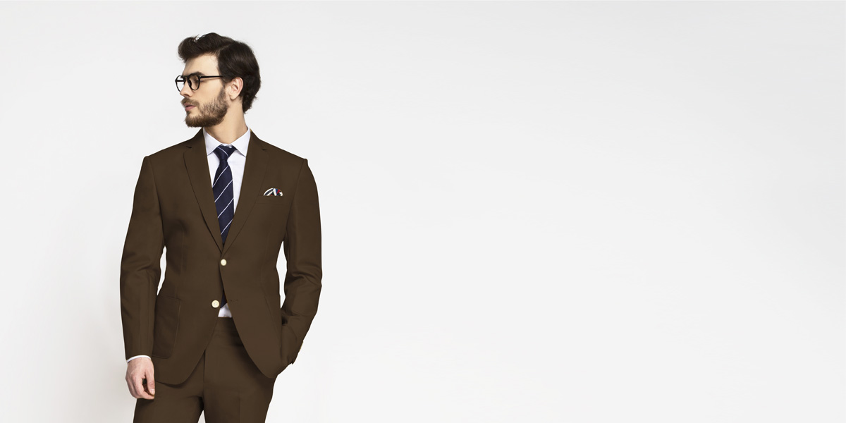 Lazio Brown Cotton Suit- view-3