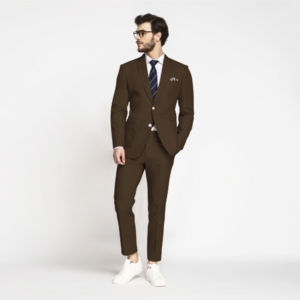 Lazio Brown Cotton Suit-mbview-1