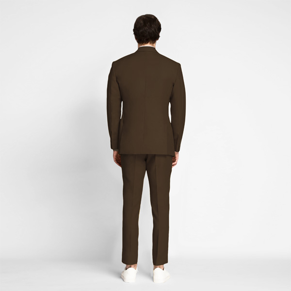 Lazio Brown Cotton Suit-mbview-2