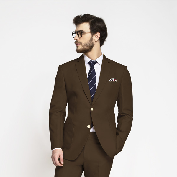 Lazio Brown Cotton Suit-mbview-3