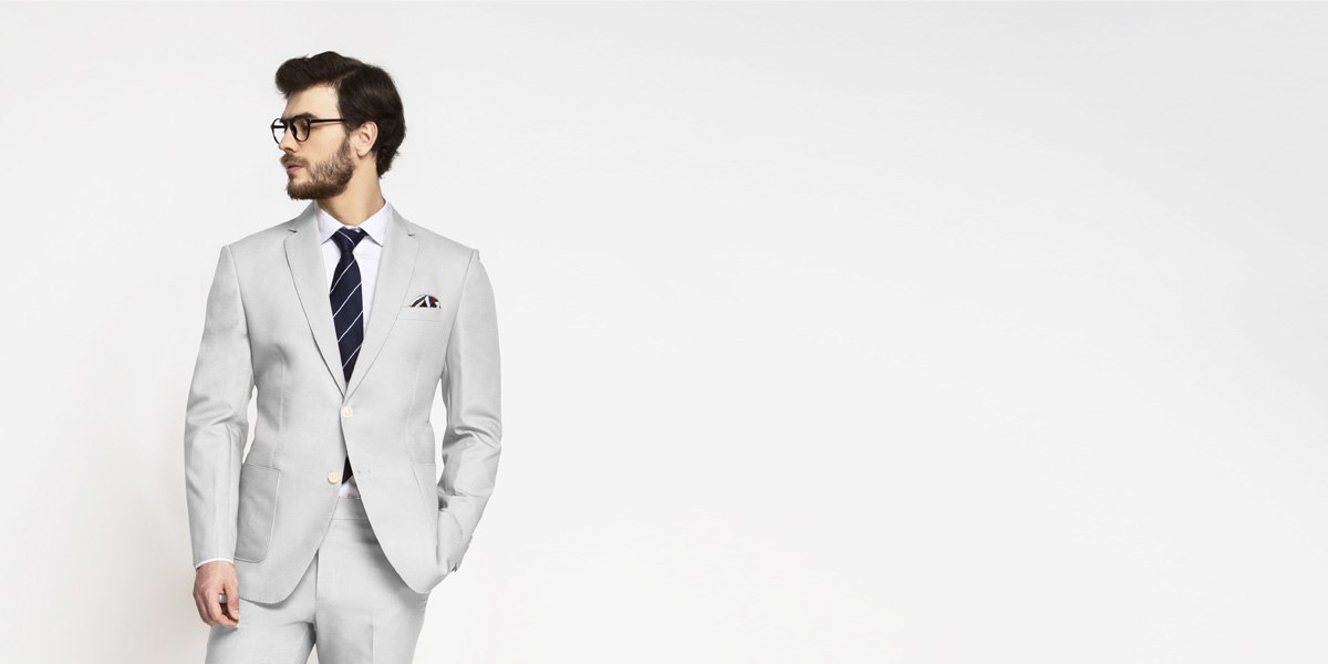 Slate Gray Cotton Suit- view-3