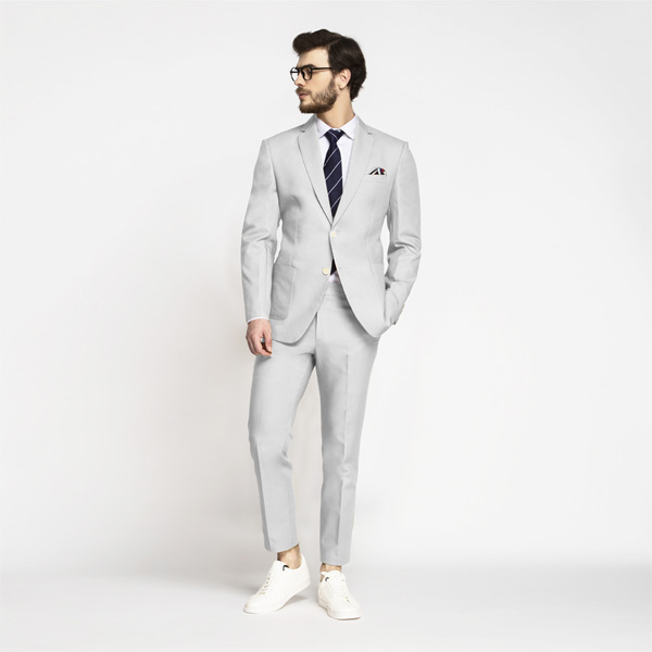 Slate Gray Cotton Suit-mbview-1