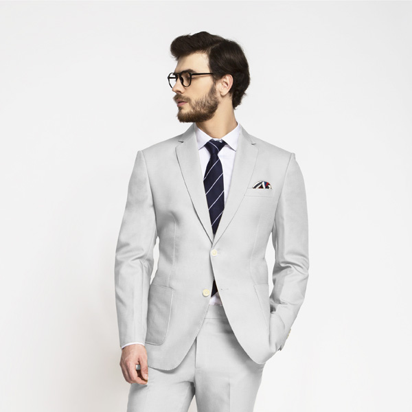Slate Gray Cotton Suit-mbview-3