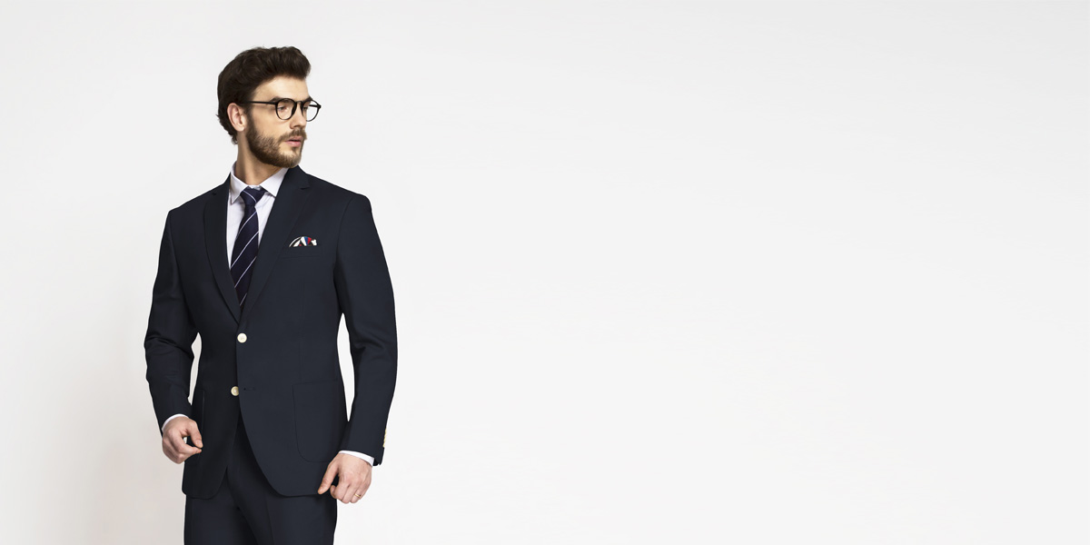 Prussian Blue Cotton Suit- view-3
