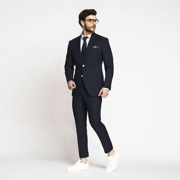 Prussian Blue Cotton Suit-mbview-1