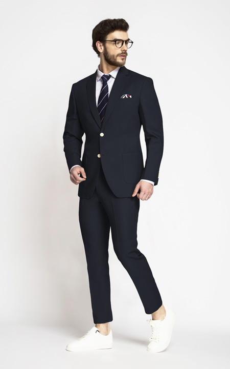 Prussian Blue Cotton Suit