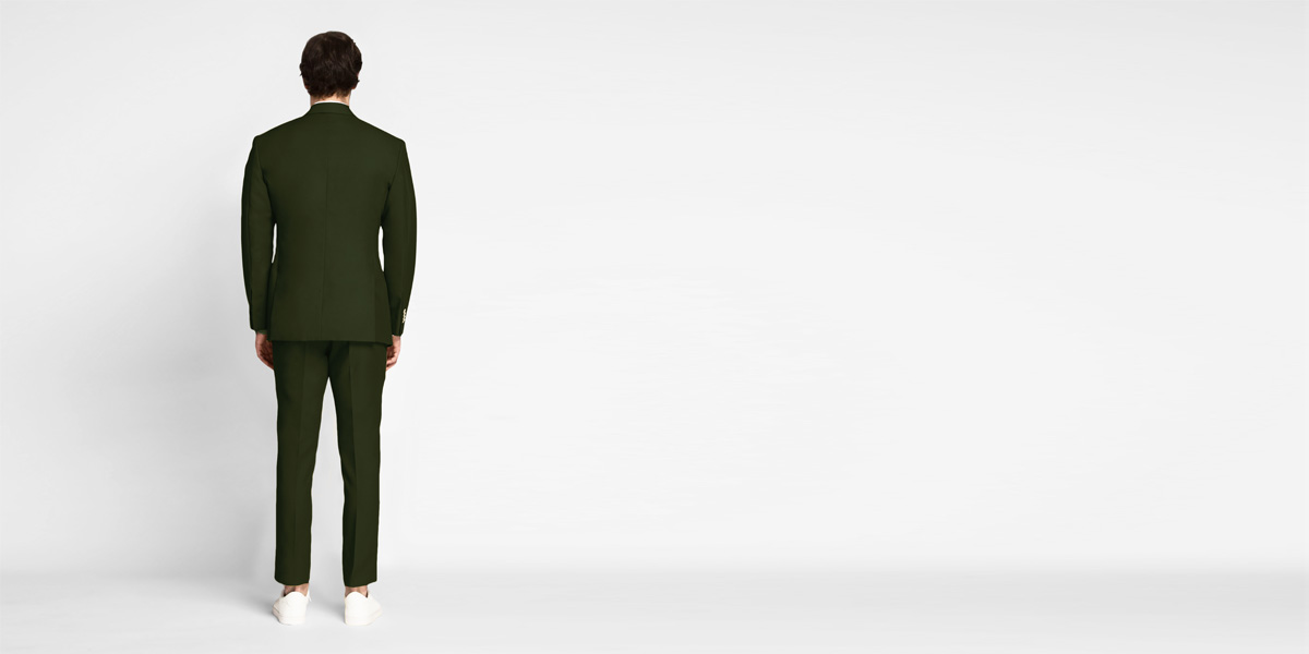 Olive Green Cotton Suit- view-2