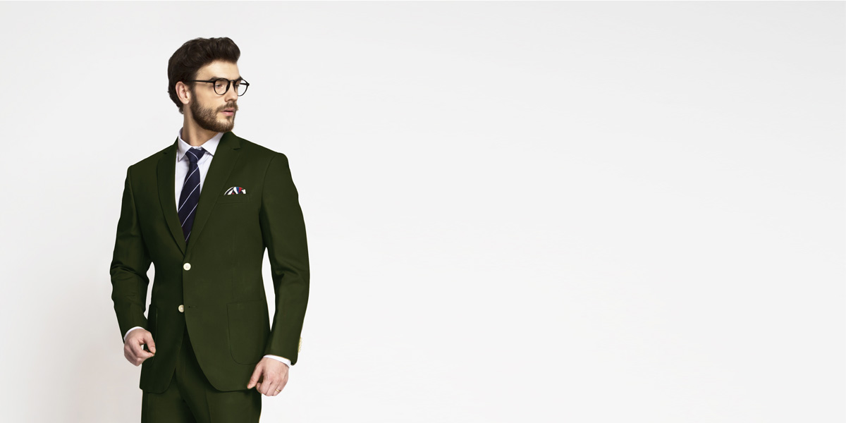 Olive Green Cotton Suit- view-3