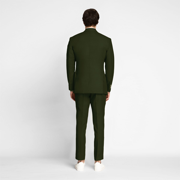 Olive Green Cotton Suit-mbview-2
