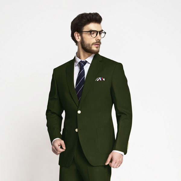 Olive Green Cotton Suit-mbview-3