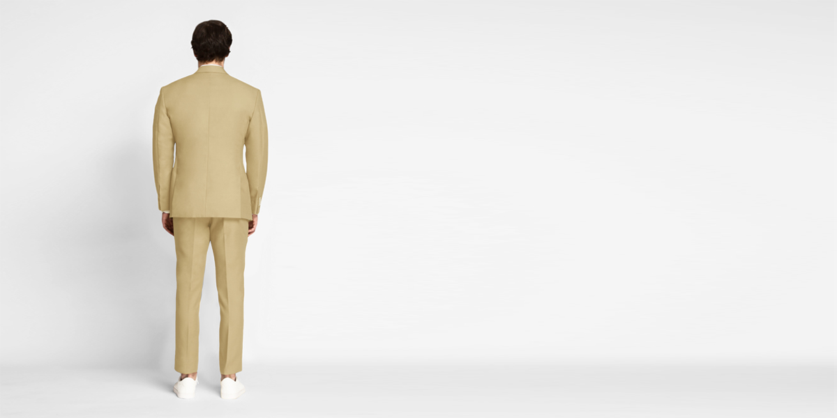 Light Khaki Sand Cotton Suit- view-2